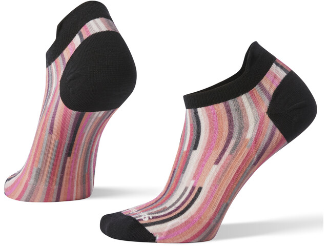 Smartwool PhD Run Ultra Light Print Micro Hardloopsokken Dames roze